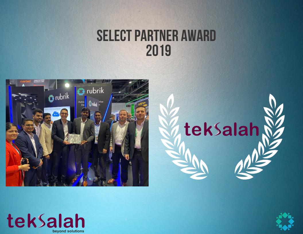 Select Partner Award - RUBRIK